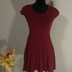 Aeropostale maroon lace back dress size s/p